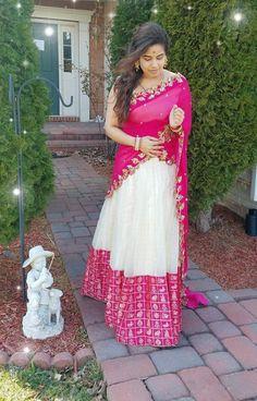 6.White With Pink Bridal Lehnga