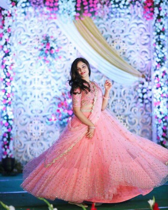 8.Baby Pink Bridal Lehnga