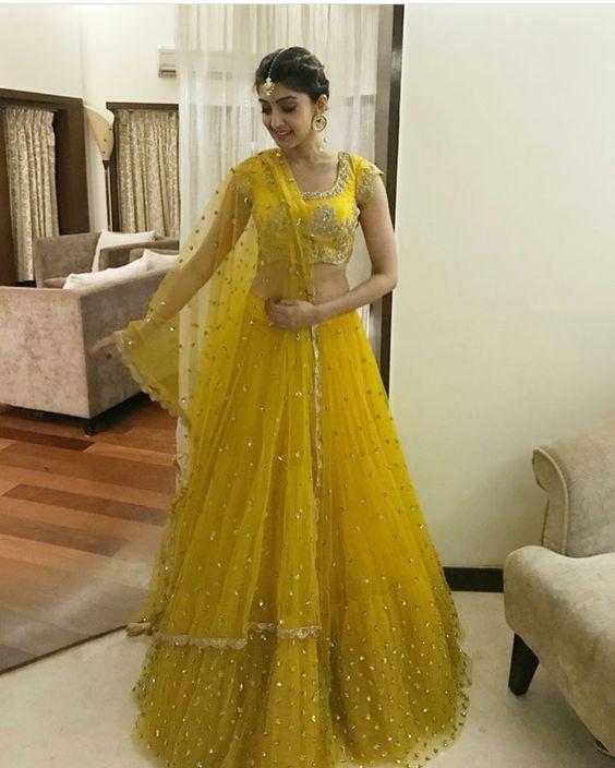 9.Yellow Bridal Lehnga