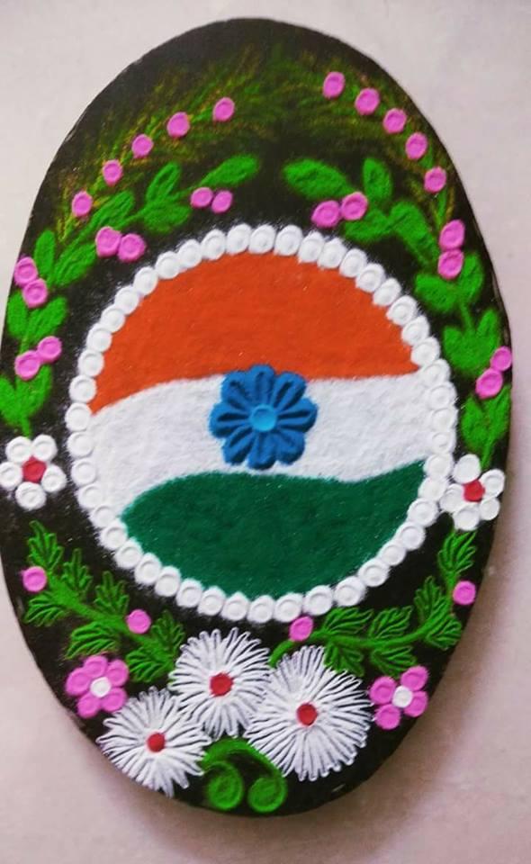 11.Round Flag Rangoli