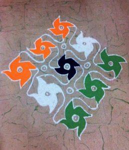 19.Tricolor Rangoli