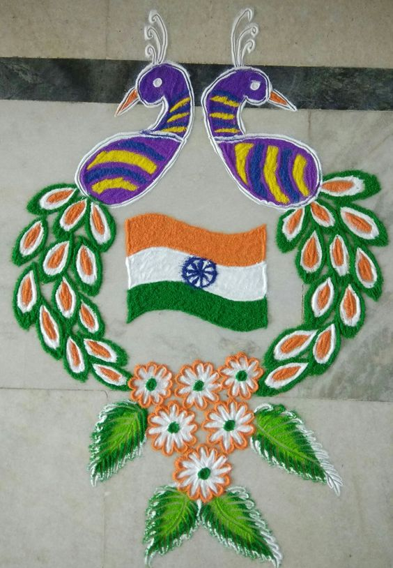 23.Double peacock Rangoli