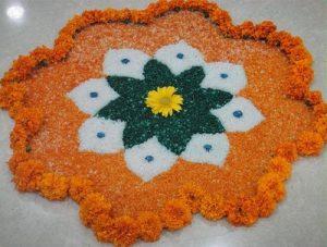 12.Flower Independence day Rangoli