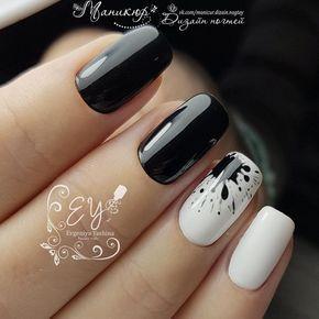 5.White nail art