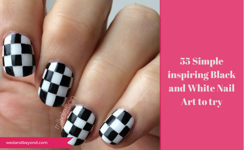 55 Simple Inspiring Black And White Nail Art To Try Wedandbeyond