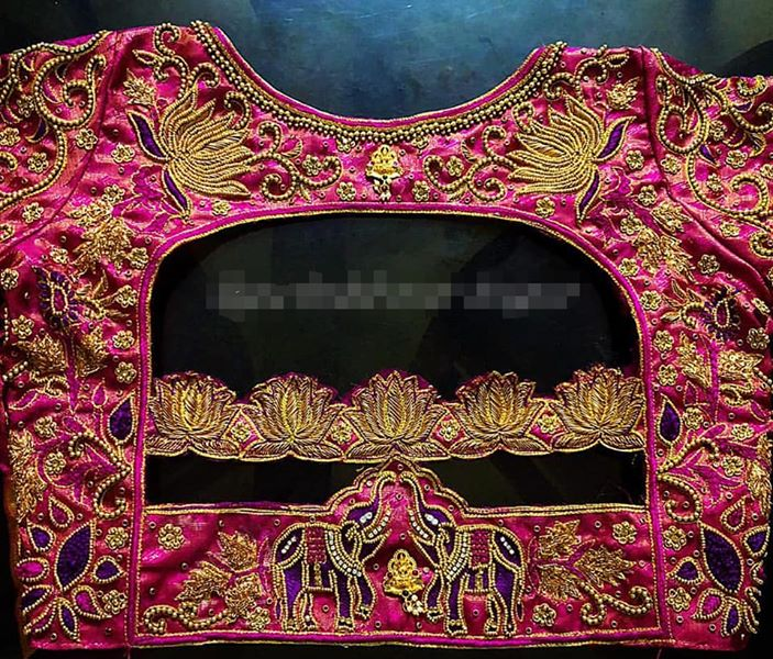 Heavy Work Bridal Blouse designs for your wedding