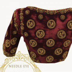 17.Velvet Bridal Blouse