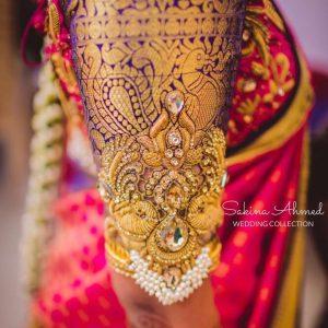 9.Heavy work in bridal blouse sleeves