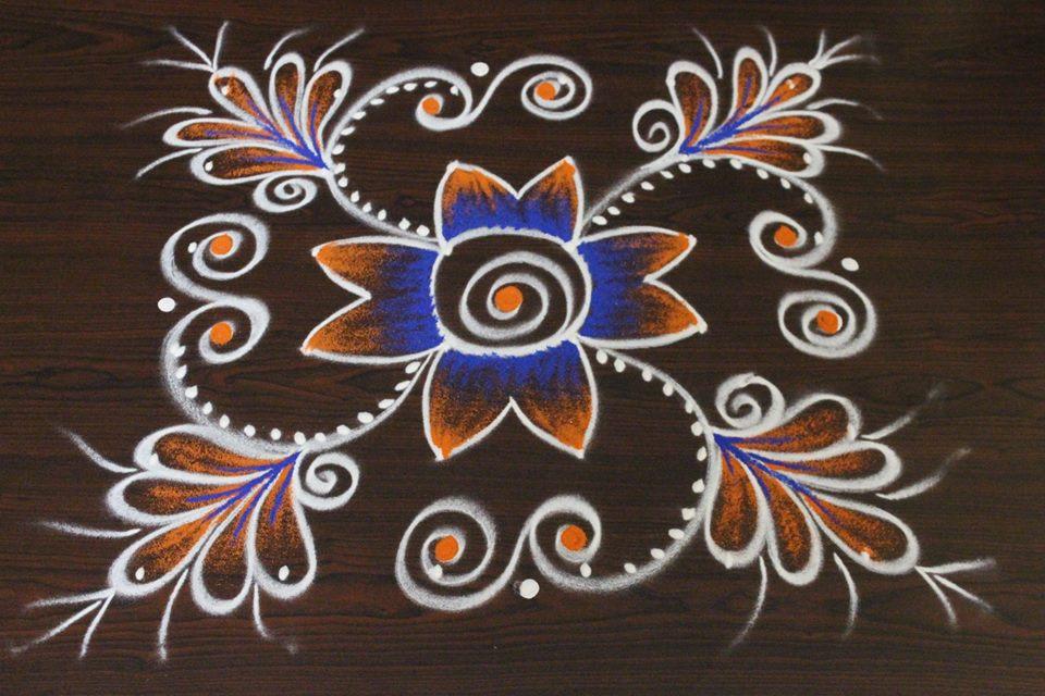 10.Margazhi Rangoli design 10