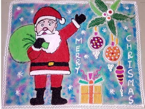 18.Santa with Gifts rangoli