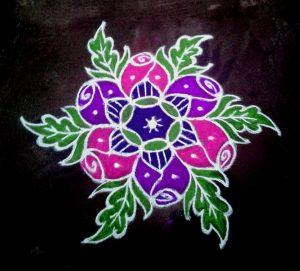 21.Margazhi Rangoli design #22