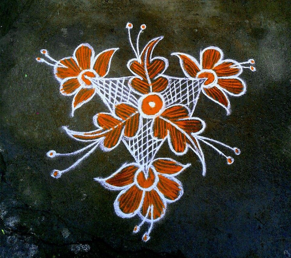 26.Margazhi Rangoli design #26