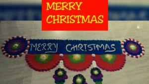 3.Merry Christmas Border Rangoli
