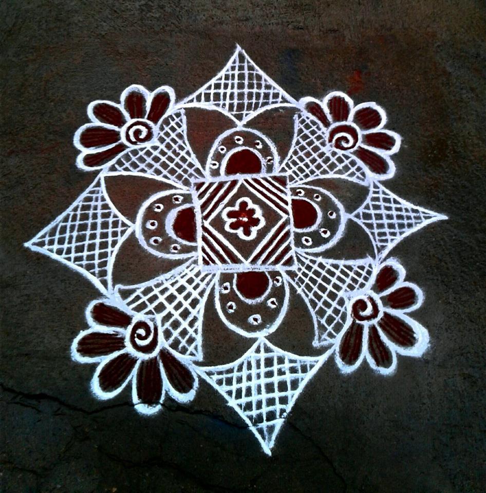 31.Margazhi Rangoli design #31