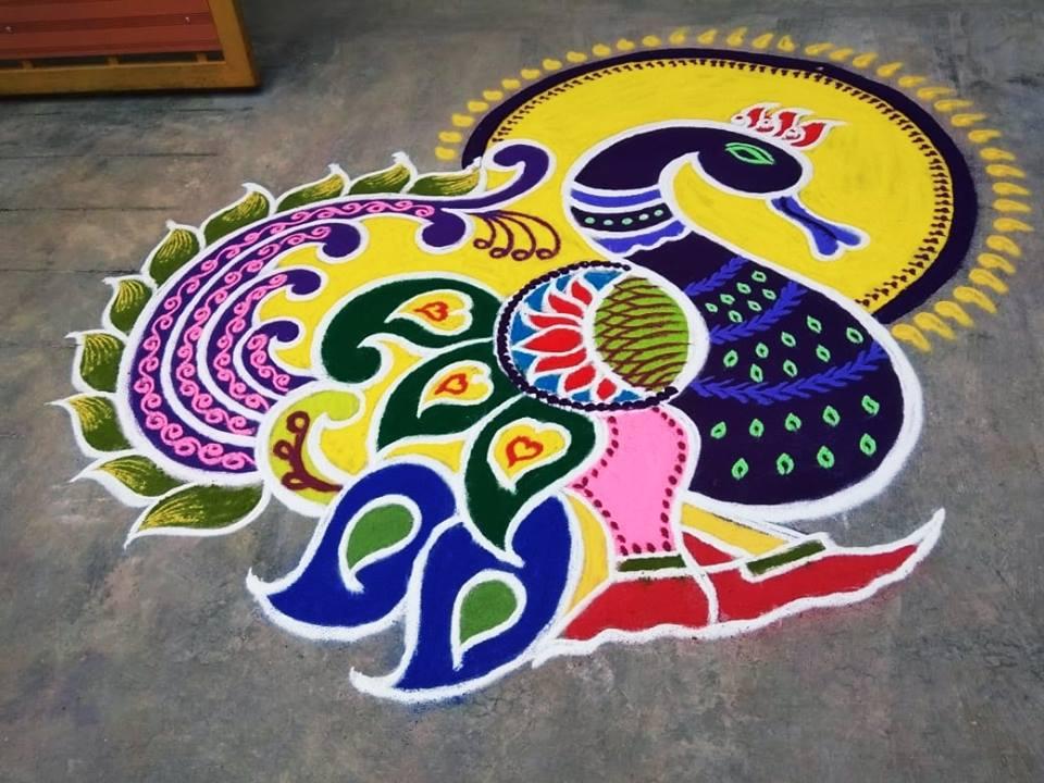 34.Margazhi Rangoli design #34