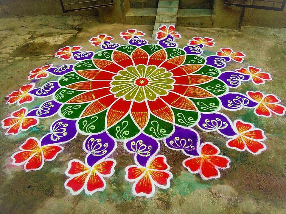 35.Margazhi Rangoli design #35