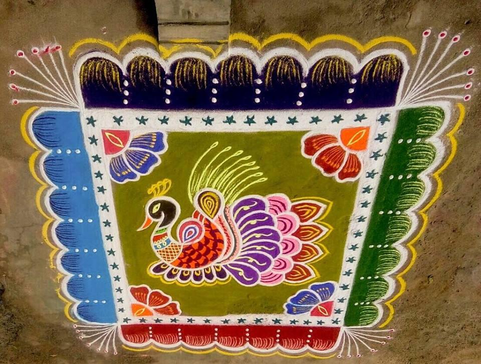 36.Margazhi Rangoli design #36