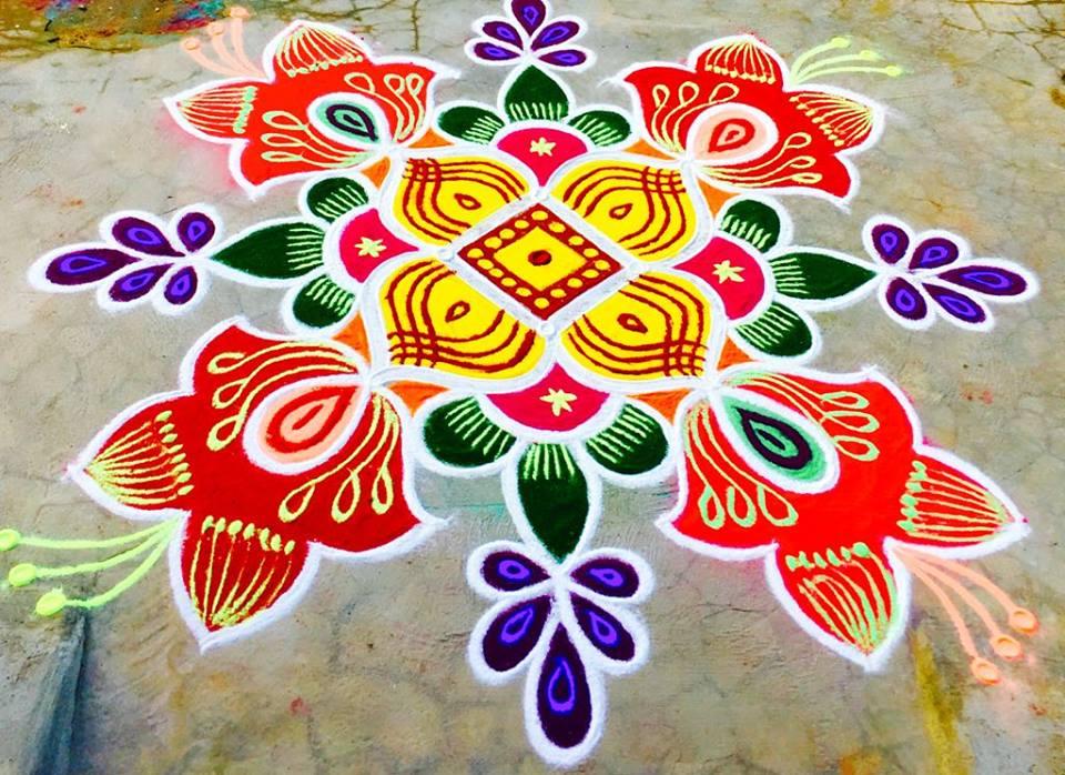 37.Margazhi Rangoli design #37