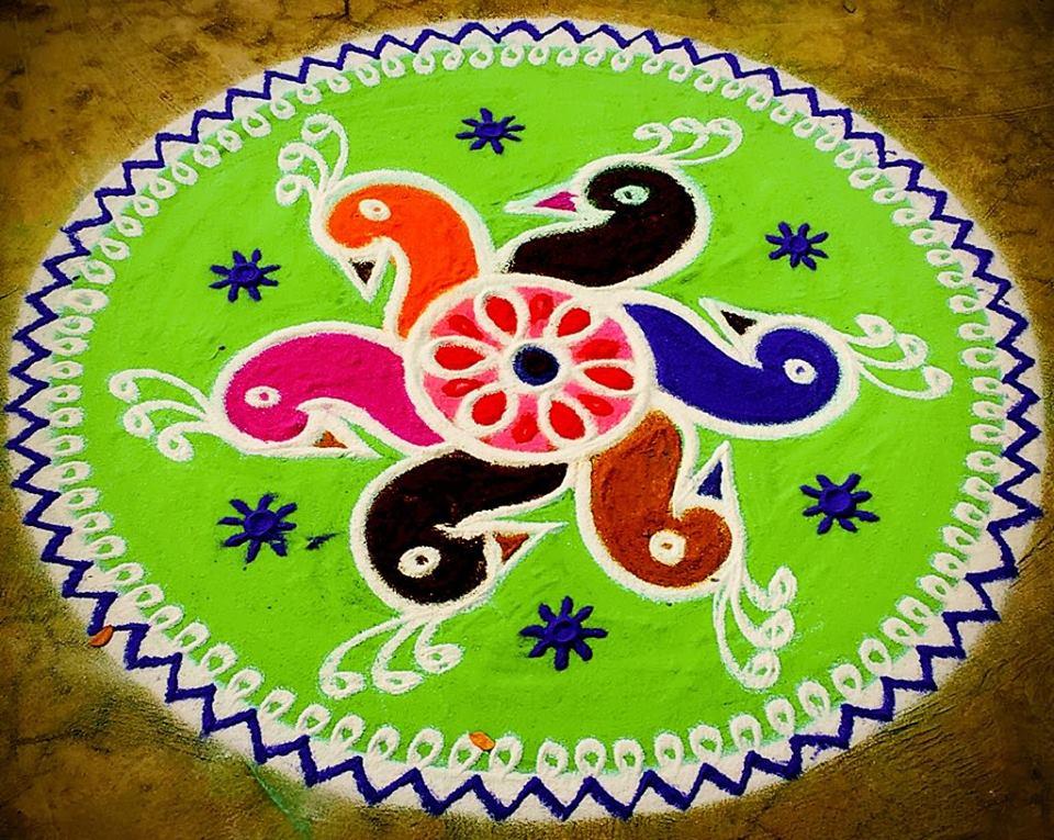 39.Margazhi Rangoli design #39
