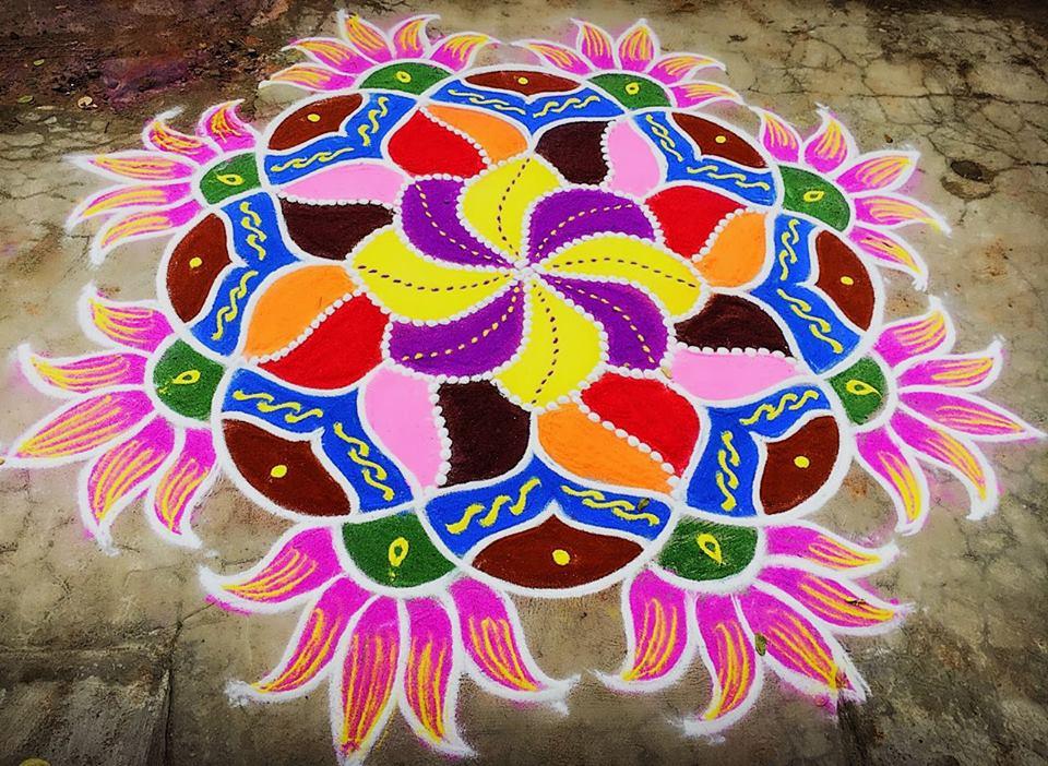 40.Margazhi Rangoli design #40