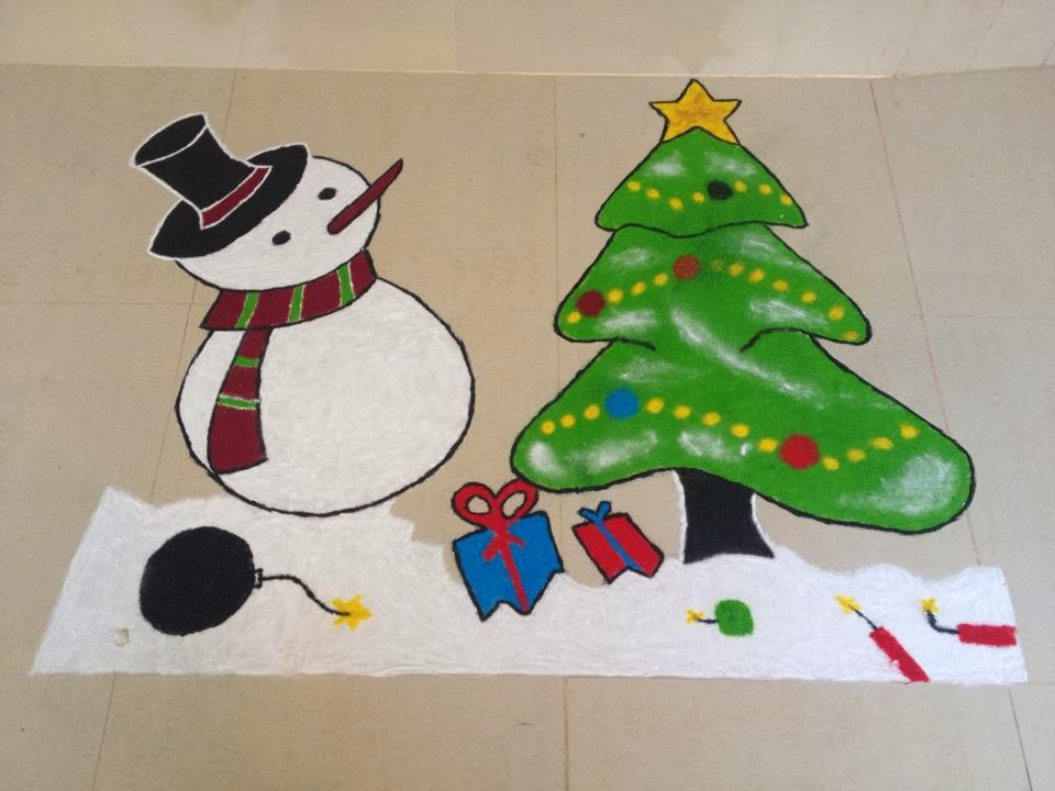 6.Rangoli design for christmas