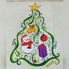 7.Designer Christmas Rangoli