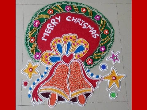 9.Red Christmas Bell rangoli