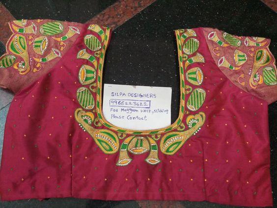 11.Musical instrument blouse #design 11