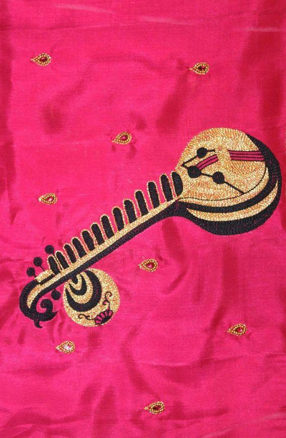 18.Musical instrument blouse #design 18