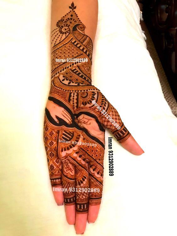 13.Ring Wearing mehndi design