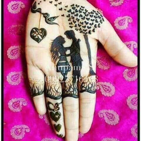 18.Lovely Mehndi design
