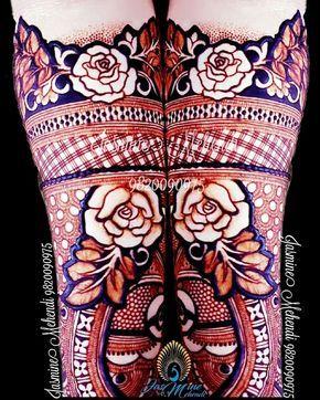 10.Rose Mehndi design #10