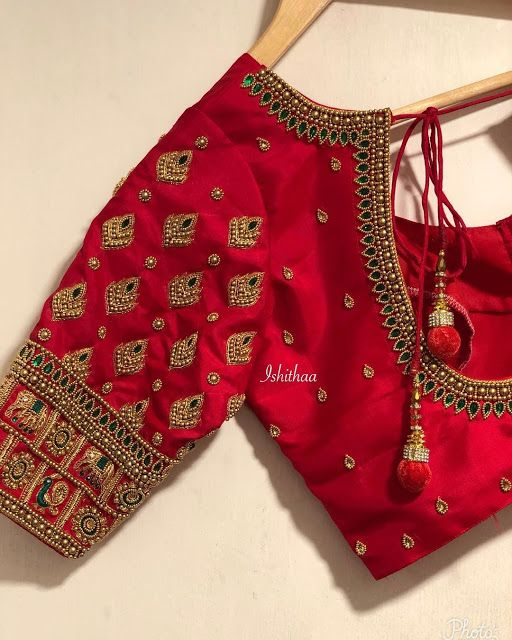 11.Red Blouse Design:#11