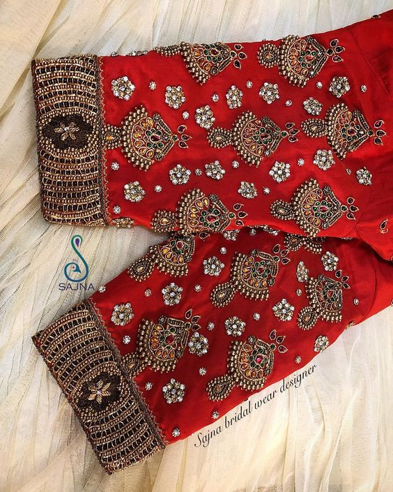 13.Red Blouse Design:#13