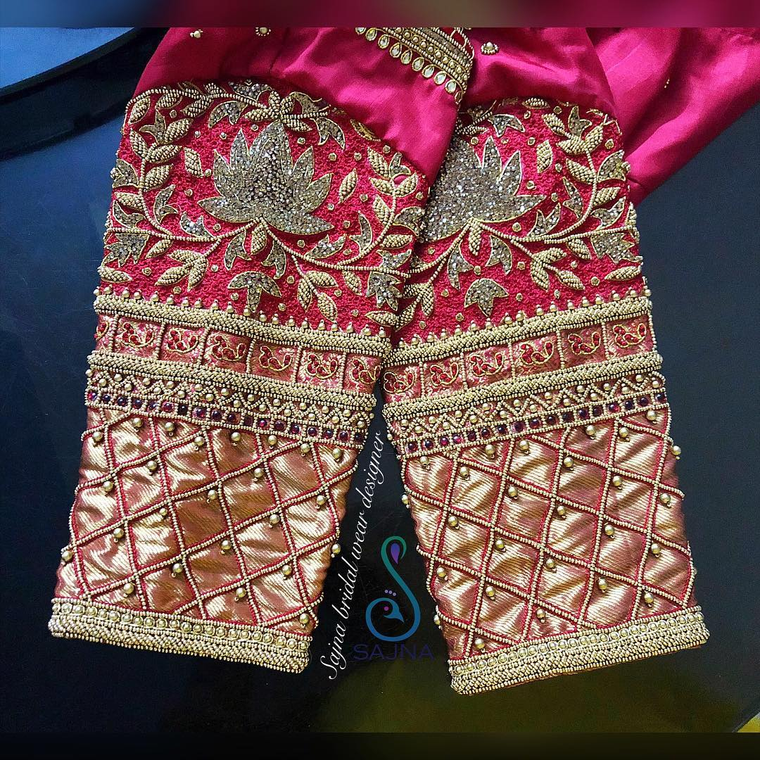 16.Red Blouse Design:#16