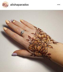 19.Rose Mehndi design #19