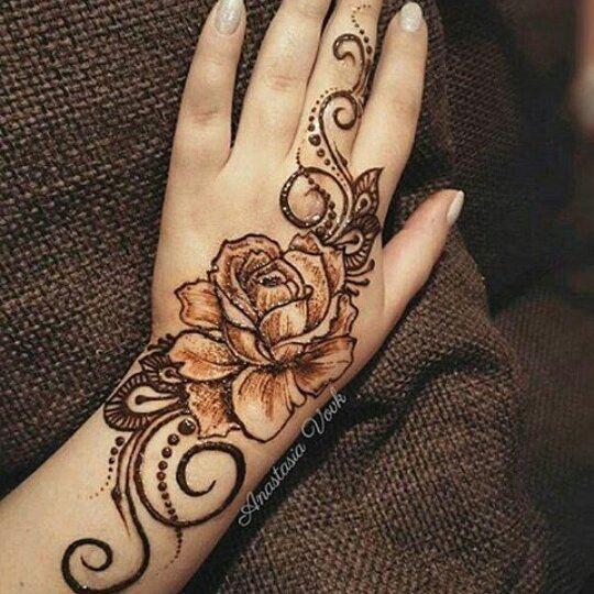 20.Rose Mehndi design #20