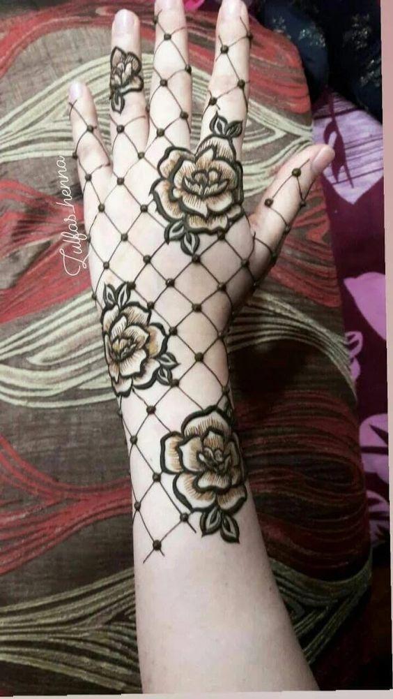 22.Rose Mehndi design #22