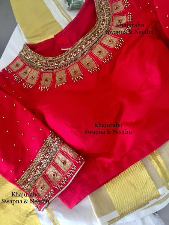 2.Red Blouse Design:#2