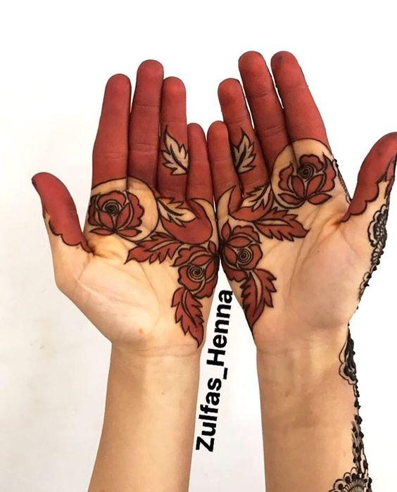 33.Rose Mehndi design #33