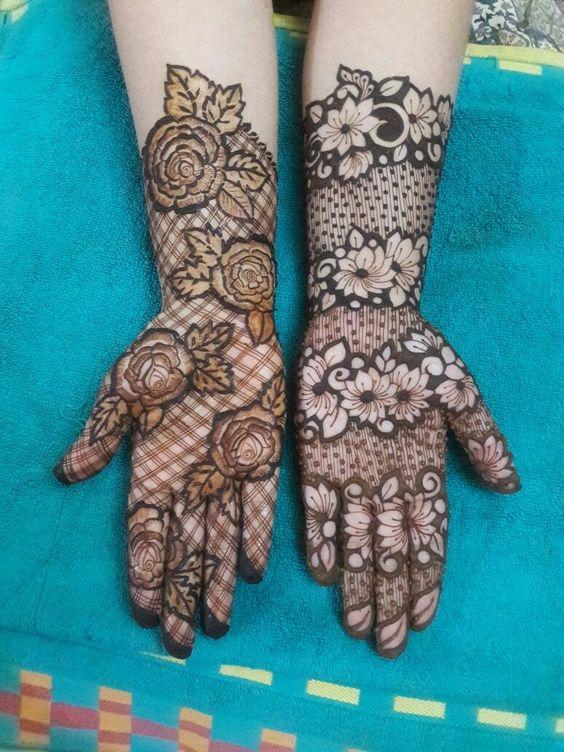 42.Rose Mehndi design #42