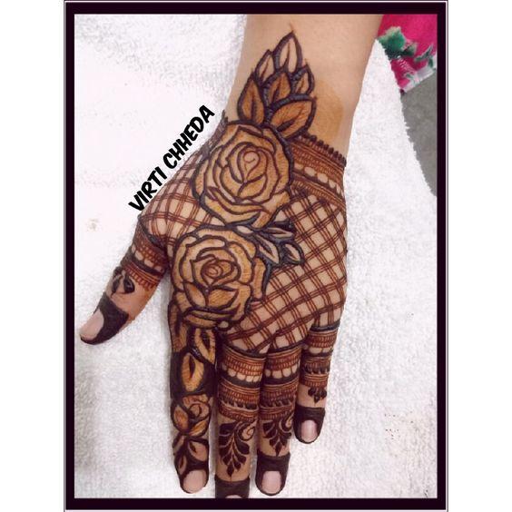 43.Rose Mehndi design #43