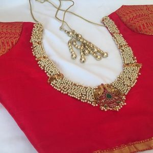 6.Red Blouse Design:#6