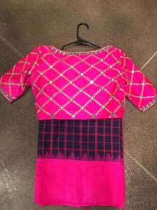 11.Check blouse design #11