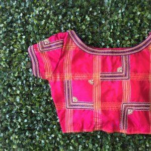 12.Check blouse design #12