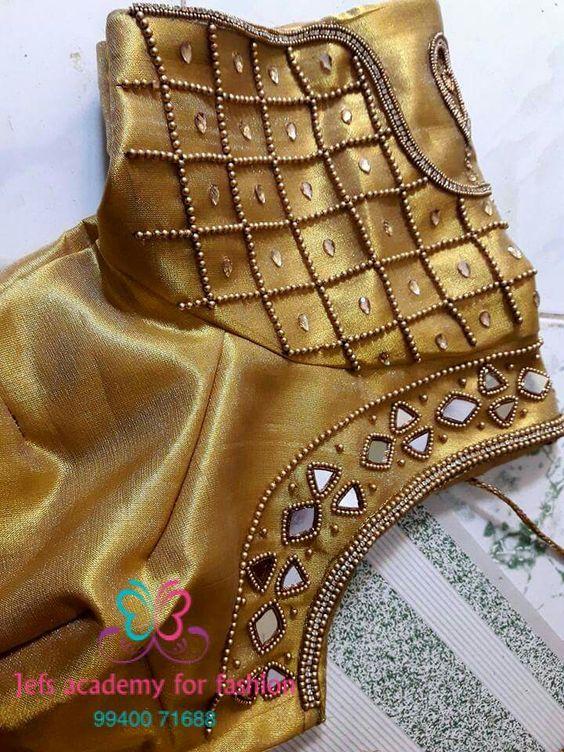 16.Check blouse design #16