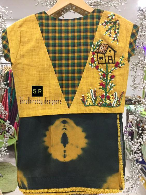 18.Check blouse design #18