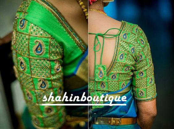 24.Check blouse design #24