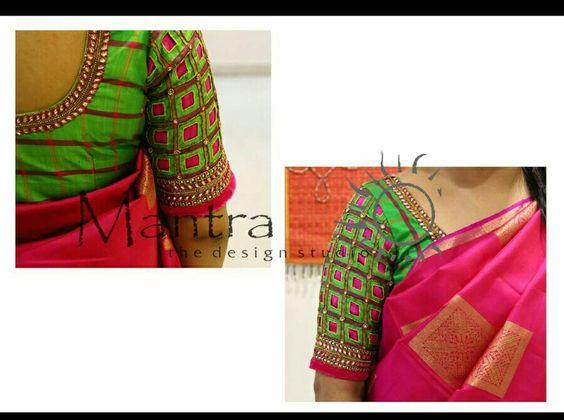 25.Check blouse design #25
