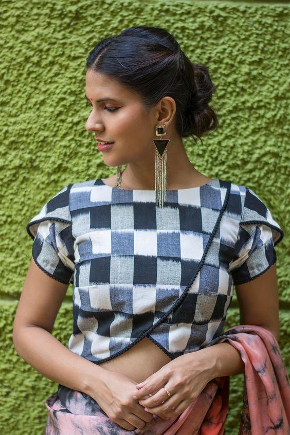 36.Check blouse design #36